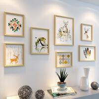 客厅装饰画沙发背景墙北欧挂画组合墙画简约餐厅壁画