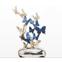 纯铜蝴蝶摆件客厅艺术家居装饰摆件工艺品办公室开业*摆设