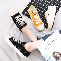 (福利款)奥古狮登帆布鞋女秋季新款韩版百搭小白鞋学生平底透气休闲板鞋子女
