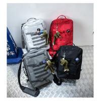 男士潮牌书包女韩版高中大学生大容量背包旅行包男多用双肩包帆布