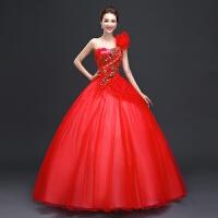 新款彩纱婚纱礼服 舞台独唱彩色影楼服装长短款演出服蓬蓬裙