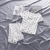 夏季宝宝睡衣女童家居服套装薄款儿童洋气短裤两件套
