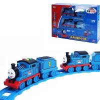 小火车头带轨道套装宝宝汽车音乐儿童玩具车模型男孩