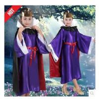 儿童圣诞节表演服儿童女巫服装儿童皇后服装恶毒王后衣服元旦