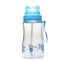 富光 400ml/300ml PC杯 FGA124可爱带吸管杯学生儿童杯太空塑料杯