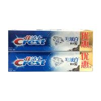 【宝洁】佳洁士3D炫白微米炭牙膏180克优惠装两支装