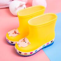 �和�雨鞋男童女童防水防滑保暖中童水鞋小童幼�����卡通四季雨靴