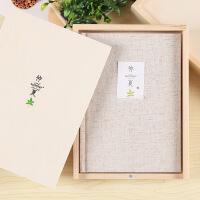 A5仲夏彩页木盒装记事本小清新礼品日记本96张创意布面笔记本