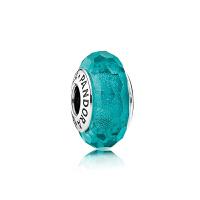 【网易考拉】PANDORA潘多拉 亮青色闪烁925银+琉璃串饰 791655