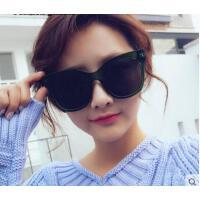 时尚女士大框太阳镜复古太阳眼镜潮 韩版黑超墨镜圆脸户外太阳镜