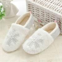 秋冬厚款月子鞋全包跟软底孕妇棉拖鞋产妇防滑大码月子鞋 白色 36-37