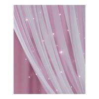 韩式公主风抖音窗帘成品简约现代窗纱遮光镂空星星卧室・ 打孔宽3.5高2.7一片 高度可改