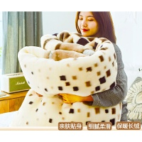 毛毯毯子床单冬季单人夏季法兰绒被子午睡加厚盖毯空调双人双层毯父亲节 双层加厚 200X230cm 约9斤