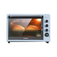 柏翠(petrus)家用商用多功能62L大容量电烤箱 智能预热 上下独立控温 PE3060 蓝色