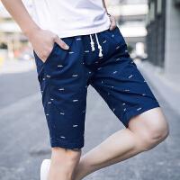 休闲短裤男2018夏装新款中裤运动裤五分裤韩版青年潮牌男裤