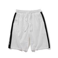 运动短裤男士刺绣宽松五分裤潮流休闲直筒沙滩裤