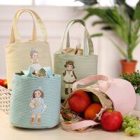韩国可爱洋娃娃保温包 便当包保温学生手提午餐盒