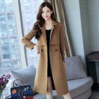 紫铃轻舞毛呢外套中长款女冬季新款韩版呢子风衣过膝呢子大衣