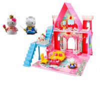 凯蒂猫玩具 街角物语我的家 女孩过家家娃娃屋医生厨房 酒红色 公主城堡KT-50050
