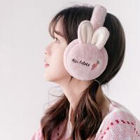 耳罩保暖女士冬季可��W生卡通兔耳朵套