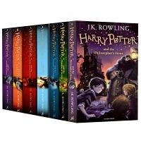 Harry Potter 哈利波特全集1-7册套装 英文原版 哈利波特与魔法石 搭与被诅咒的孩子20周年纪念 全英文版正