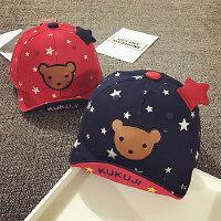 儿童棒球帽男女童鸭舌帽宝宝帽子1-2岁遮阳帽婴儿帽6--24个月潮