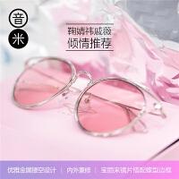 墨镜女偏光太阳镜女圆脸驾驶镜配近视墨镜INMIX太阳眼镜