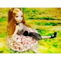 可儿娃娃 关节体 名媛可儿烛光晚宴 6077送支架 古装女孩生日玩具