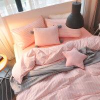 家纺床上用品四件套全棉纯棉北欧小清新1.8m床单被套宿舍三件套1.5