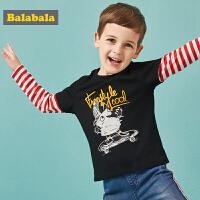 【3折价:35.7】巴拉巴拉儿童长袖T恤男童秋装童装新款宝宝休闲纯棉上衣印花