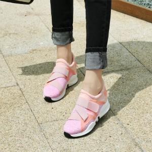 O'SHELL欧希尔新品026-B12-23休闲混合材质内增高女士休闲鞋