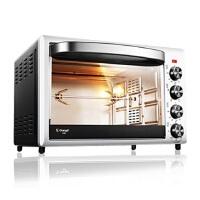 长帝 CRTF38电烤箱家用烘焙多功能独立控温38升大容量蛋糕烤箱