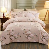 全棉加厚磨毛四件套简约纯棉床上四件套1.8/2.0m双人床单被罩