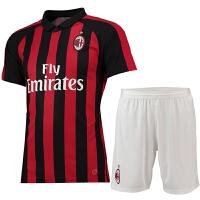 新款AC米兰主客场短袖球衣队服18-19赛季足球服训练服队服男