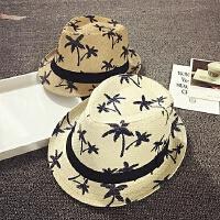 儿童礼帽男夏草帽1-2-4岁防晒帽遮阳帽帽女宝宝帽子太阳帽沙滩帽