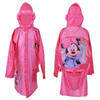 迪士尼儿童雨衣带书包位男童女童米奇小孩子雨披学生雨衣