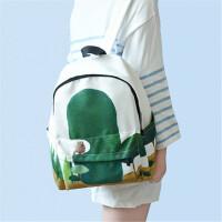 新款 帆布包印花女款双肩包小清新文艺背包中大学生书包旅行包