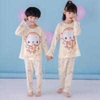 儿童睡衣长袖套装男童女童睡衣纯棉童装可爱白雪公主空调服