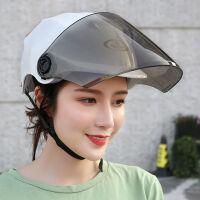 �^l盔 女士夏季摩托��榆��^盔男女士四季防�穹漓F半盔通用安全帽
