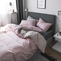 ins风简约纯色网红床单四件套棉被套床笠1.5/1.8m床上用品