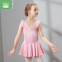 儿童舞蹈服装女童少儿练功服短袖体操考级服芭蕾舞裙演出服