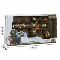 仿真儿童迷彩加特林电动玩具枪 灯光音乐闪光 震动枪 图片色 默认