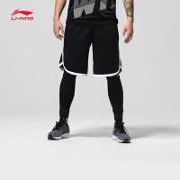 李宁篮球比赛裤男士2018新款篮球系列修身短裤短装运动裤AAPN021