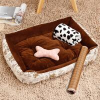 狗窝可拆洗夏天泰迪宠物猫窝金毛狗床垫子小型大型犬狗狗用品四季