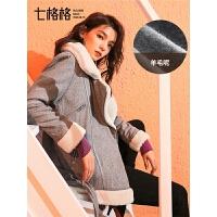 仿羊羔毛呢大衣女韩版秋冬装季2019新款小个子短款呢子外套加厚潮