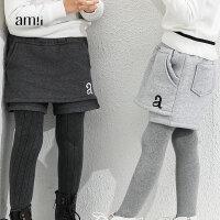 【AMII大牌日折上2件4折】AMII童装冬新款女童加绒休闲裤中大童外穿短裤儿童加厚靴裤