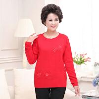 中年女秋装针织打底衫妈妈装毛衣40-50岁中老年女装冬装羊绒毛衫