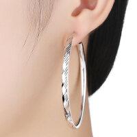 耳圈银圆形耳环女欧美韩国气质时尚大小圈圈耳坠圆环圆圈款耳饰