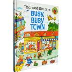 金色斯凯瑞-忙忙碌碌镇(精装)【英文原版】Richard Scarry's Busy, Busy Town (Litt