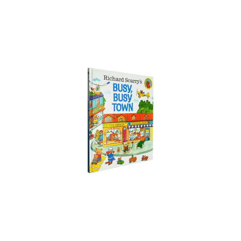 金色斯凯瑞-忙忙碌碌镇(精装)【英文原版】Richard Scarry's Busy, Busy Town (Little Golden Book)